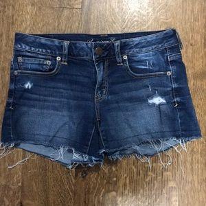 AEO stretchy jean shorts
